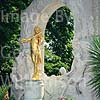 GW01460 = The Gilded Statue of Johnann Strauss, Stadtpark. Vienna, Austria. Aug 1995.