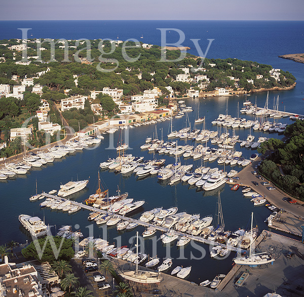 GW27390-60 = Aerial view looking North East over the marina of Cala D